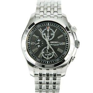 Seiko-Men-039-s-SNAE31P1-Stainless-Steel-Analog-Quartz-Alarm-Chronograph-Watch