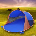INSTANT SELF POP UP PICNIC DOME TENT BEACH POPUP SUN SHADE 4 SAND POUCH 240X150