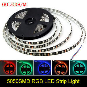 5M-5050-RGB-Led-Strip-Lights-300LEDs-SMD-Waterproof-Bright-Flexible-Fairy-Lights