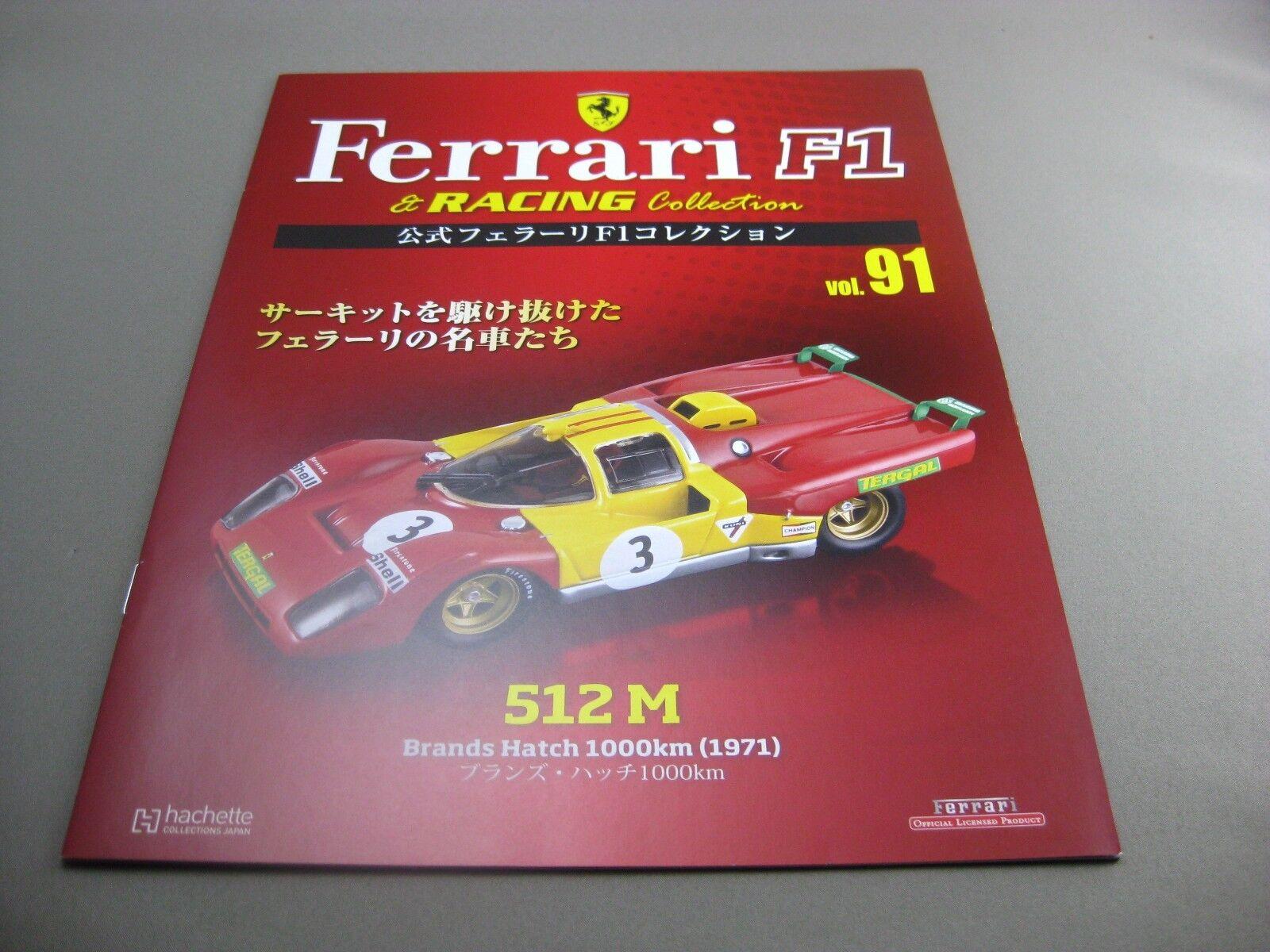 Ferrari Ferrari Ferrari 512 M Brands Hatch 1000km 1971 hachette 1 43 Diecast model car Vol.91 30ceaa