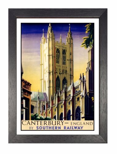 Canterbury Adventure Travel Holiday Beautiful View Poster Cathedral Advert 4