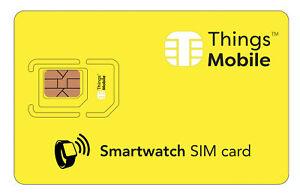 Bien éDuqué Sim Card Per Smartwatch Con Rete Multi-operatore. Credito Non Incluso
