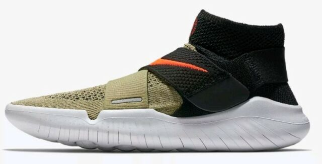 eda7a803db40 Nike Free RN Motion Flyknit FK 2018 Natural Olive Crimson Uk 9 Mens 942840  200