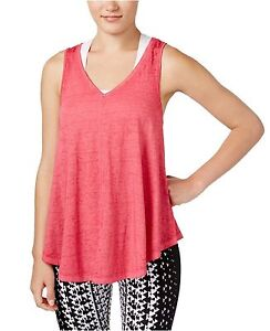 New-Calvin-Klein-Performance-Women-Relaxed-Icy-Wash-Yoga-Tank-Top-PF6T3412-Pink