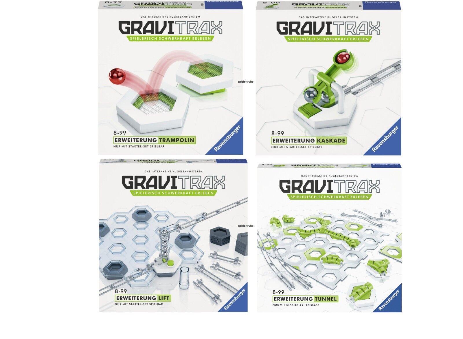 Ravensburger Gravitrax 4 New Extensions - Lift Tunnel Cascade Trampoline