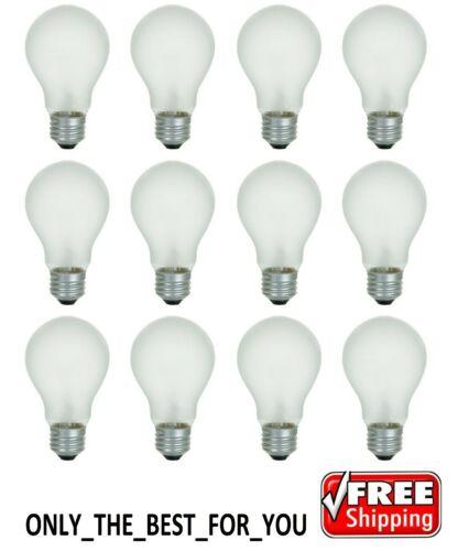 12 Bulbs 12 Incandescent Light Bulbs E26 Base 60 Watt 600 Lumens Soft White