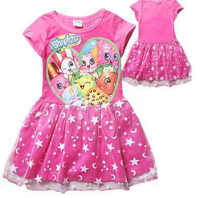 NWT Shopkins Star And Moon Pink Tutu Tool Birthday Girls Party Dress Size 5-12