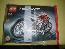 LEGO Technic Motorrad (8051) mit Anleitung