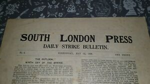 Original-1-Sheet-SOUTH-LONDON-PRESS-Dialy-Strike-Bulletin-1926-Miners-Newspaper
