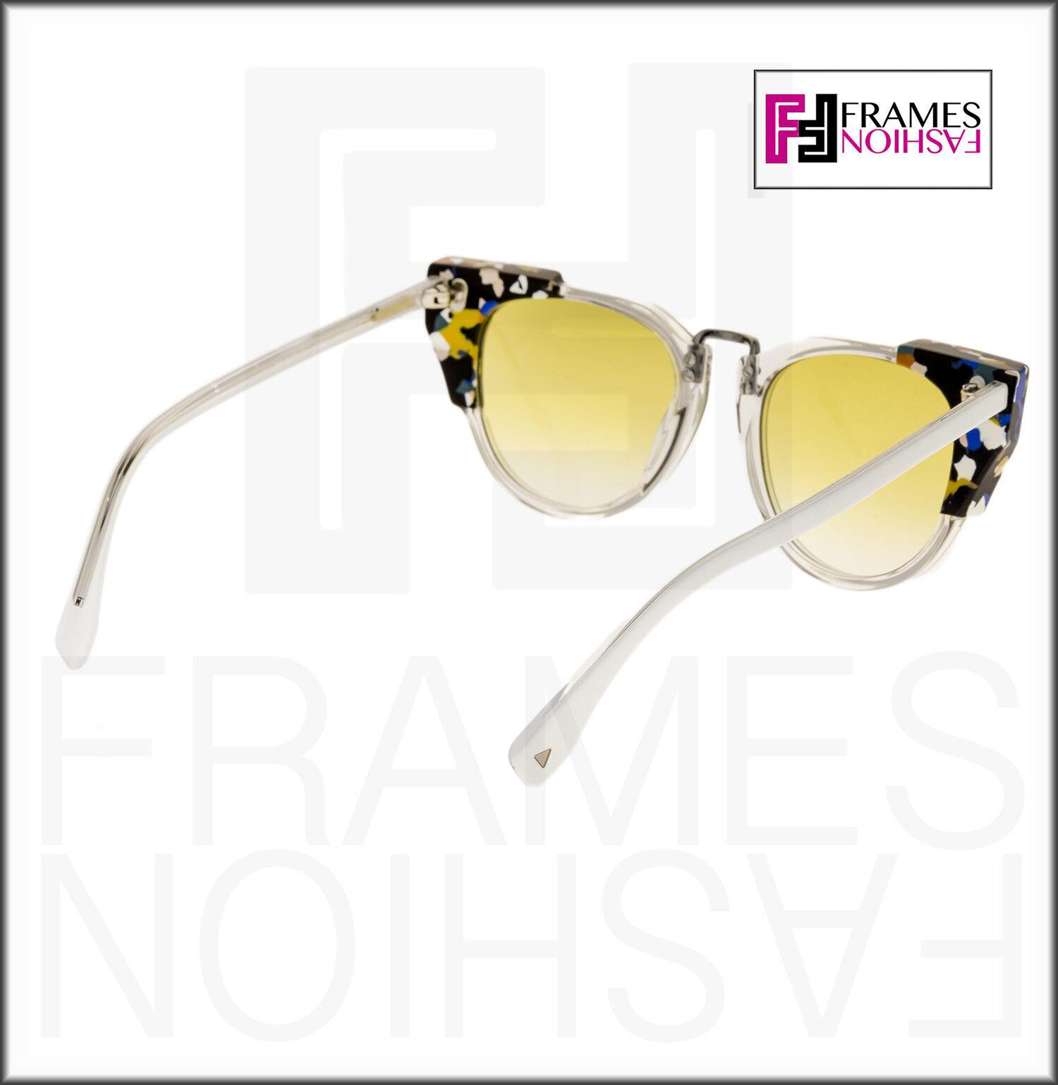 11f19cd220ff Fendi FF 0074 s Sunglasses RCKSV Transparent Crystal White Marbled ...