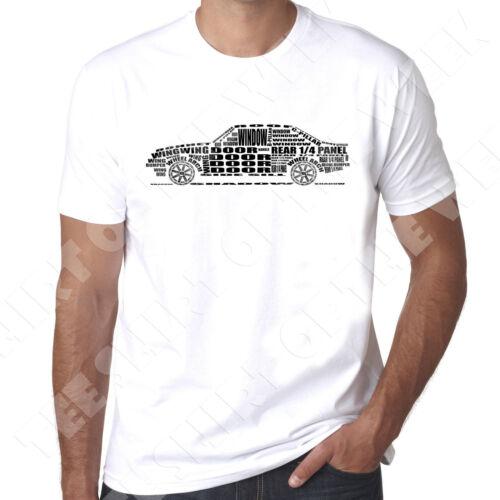Ford Escort Mk2 Rs2000 word car typography  mens 100/% cotton tshirt