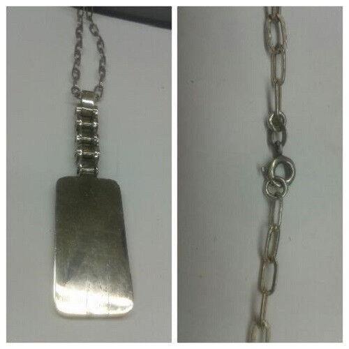 CADENA DE silver 60 cm con colgante