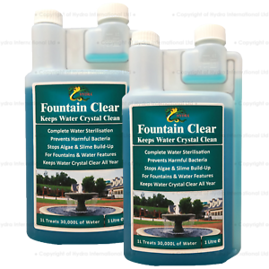 Hydra Fountain Clear Fountain Cleaner for Water Features  2X1Litre
