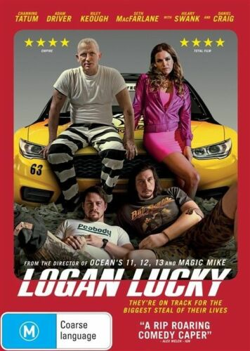 1 of 1 - Logan Lucky DVD NEW Region 4 Daniel Craig Adam Driver