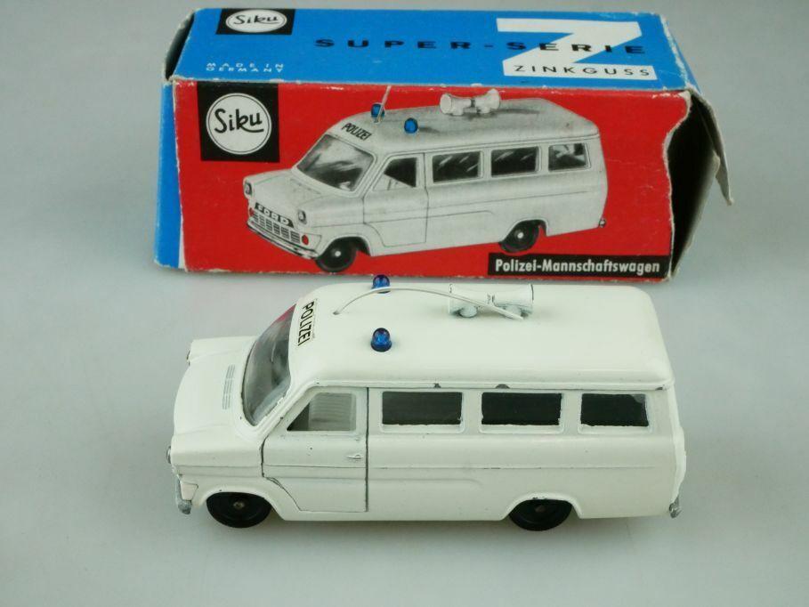 V 234 Siku 1 55  Ford Transit Bus Police Crew Wagon with Box 512309  marques en ligne pas cher vente