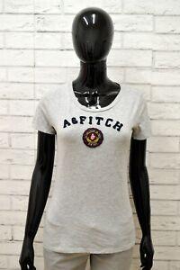 Maglia-ABERCROMBIE-Donna-Taglia-Size-M-Maglietta-Shirt-Woman-Cotone-Slim-Grigio