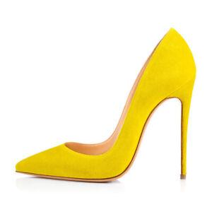 Onlymaker Ladies Slip On High Heels Pointy Toe Stiletto Pumps Work Shoes US5-15