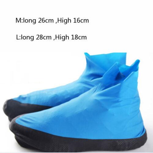 1 Pair Reusable Latex Waterproof Shoes Covers Slip-resistant Rubber Rain Boots #