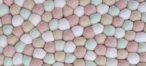 DIY Felt Balls Rug Freckled Decoration