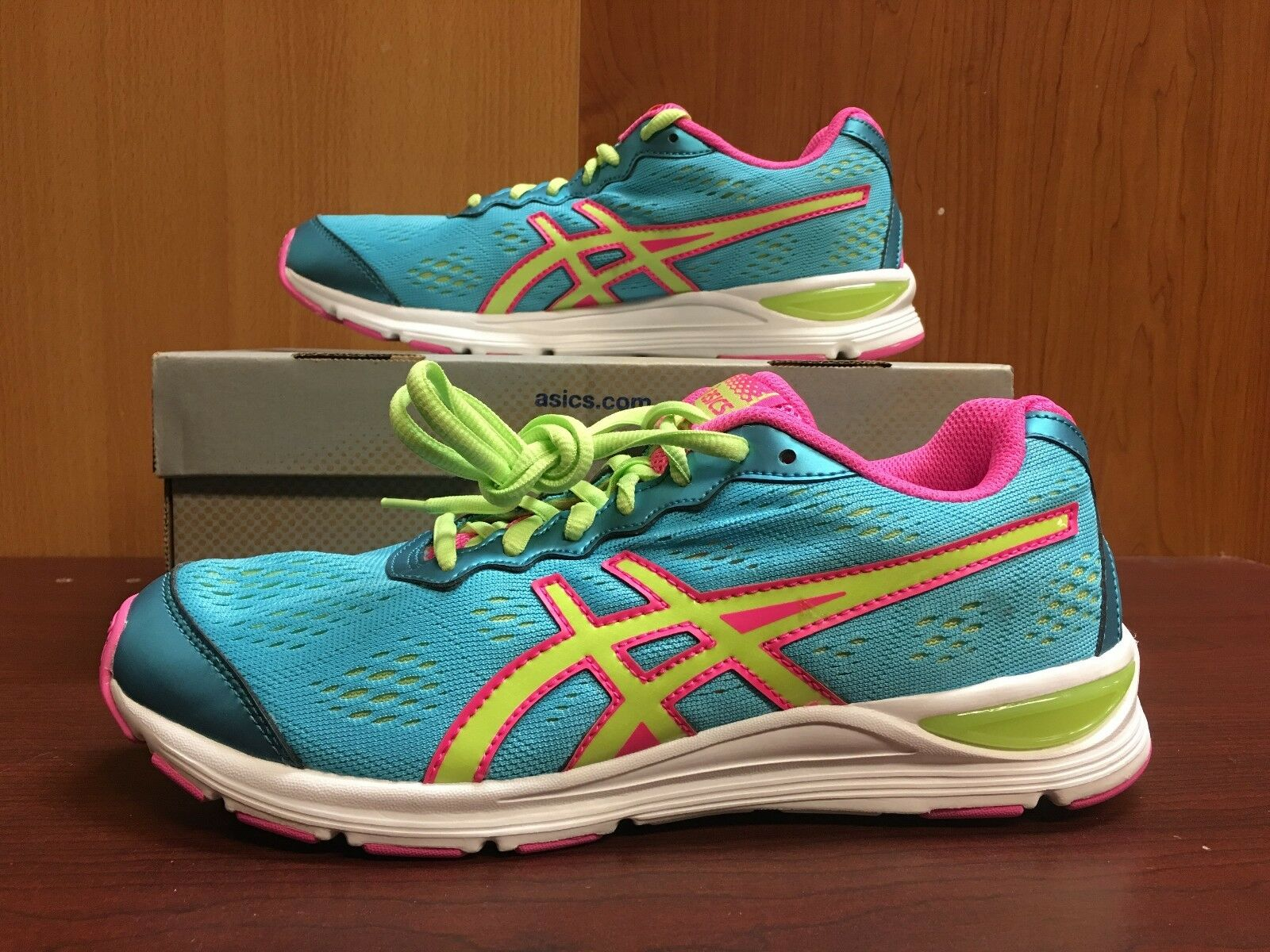 ASICS C445N Gel-Storm 2 Gs Turquoise Sharp Green Hot pink In Men's and Youth Siz