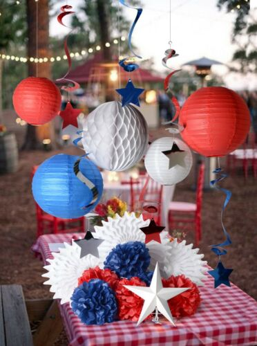 patriotic holiday party decoration for memorial day veteran/'s day July 4th kit 1