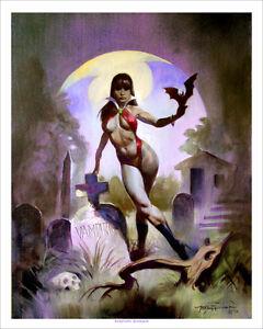 VAMPIRELLA-GRAVEYARD-Exotic-Horror-Mike-Hoffman-Art-Print-SIGNED