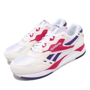 Détails sur Reebok Bolton Chalk White Magenta Pop Purple Men Running Shoes Sneakers M49231