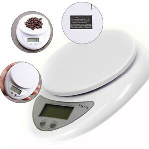 5kg-1g-Digital-Kitchen-Food-Diet-Postal-Scale-Electronic-Weight-Balance-White