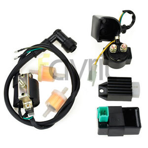 Ignition Coil Cdi Regulator Rectifier Relay 110cc Peace Eagle Cool