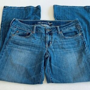 American-Eagle-Womens-Jeans-Super-Stretch-Size-10-Short-Favorite-Boyfriend-Blue