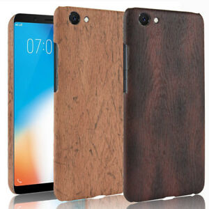 Details about For VIVO Y71 Wood Texture PU Coated hard case cover