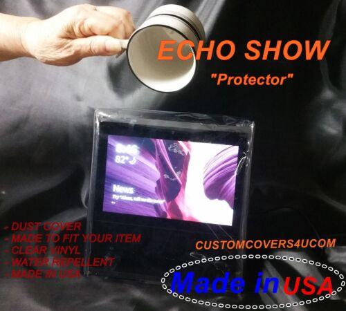 CLEAR VINYL CUSTOM DUST COVER FOR ECHO SHOW AMAZON ALEXA DEVICE 1 GEN NEW