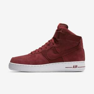 NIKE AIR FORCE 1 HIGH '07 315121 610 TEAM RED/WHITE-UNIVERSITY RED - SUEDE/WOVEN