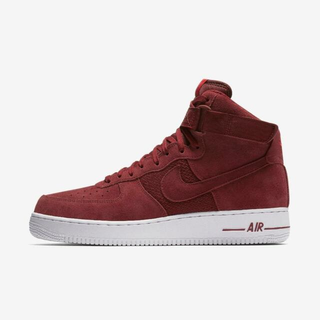 8eb7c0fce Nike Air Force 1 High '07 Shoes Athletic Suede University Red 315121 ...