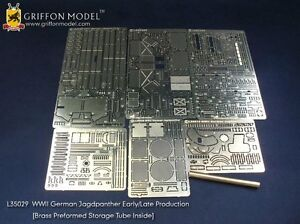 Griffon L35029 1//35 WWII German Jagdpanther Early//Late Production Detailing Set