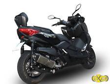 SILENCIEUX EXAN X-BLACK OVALE INOX YAMAHA XMAX 400 2013/16 - Y483OV-I