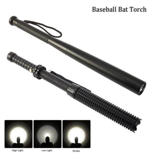 LED Torche de lampe de poche sécurité zoomable batte de baseball 3 modes Q5