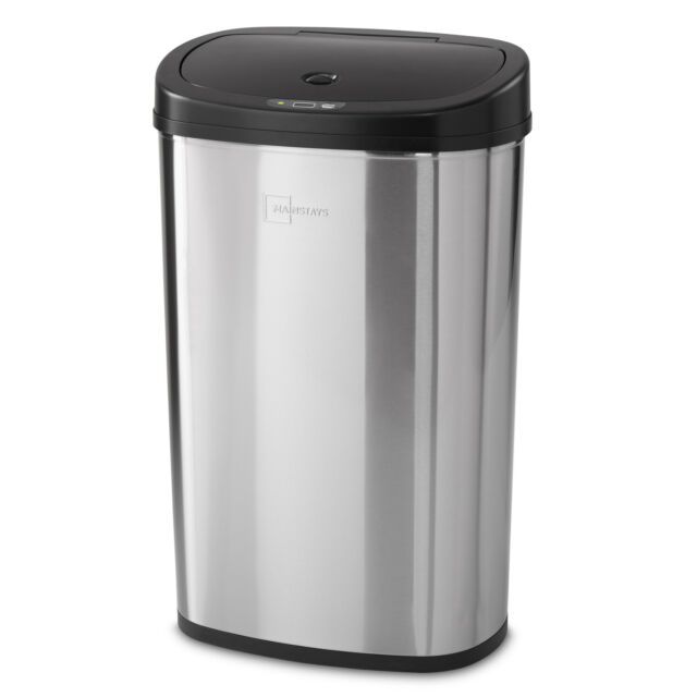 Stainless Steel Trash Can Automatic Motion Senson Garbage Bin For Sale Online Ebay