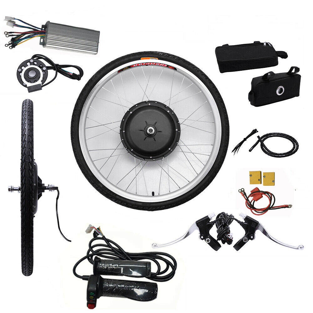 Electric Bike EBIKE Conversion Kit 48V 1000W Bicycle Motor fit 26 front wheel
