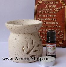 Aroma Lamp ASHOKA, Oil Burner, Home fragrance Diffuser, FREE 10ML Essential Oil