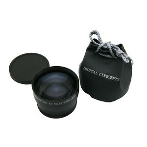 67mm 2.0X Magnification Telephoto Lens HD Magnifier Glass for Canon Nikon Camera