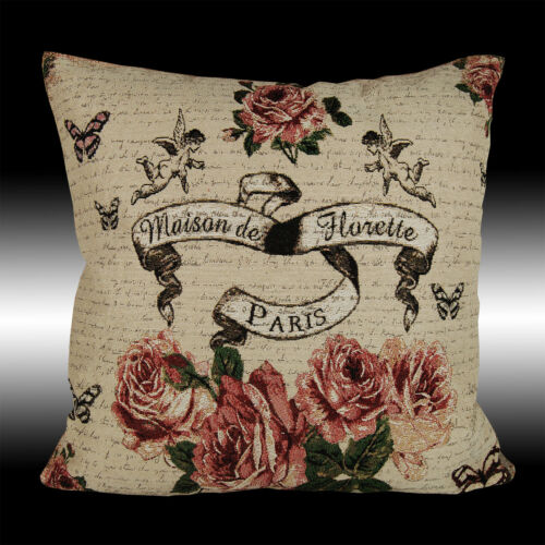 """Shabby Chic Roses anges pays Tapestry Cushion Cover Throw Pillow Case 17/"""""""