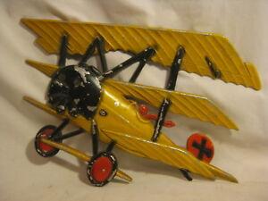 Details About Vintage Metal Airplane Plane Wall Decor Pilot Plaque 1232 Bx E Homco Usa