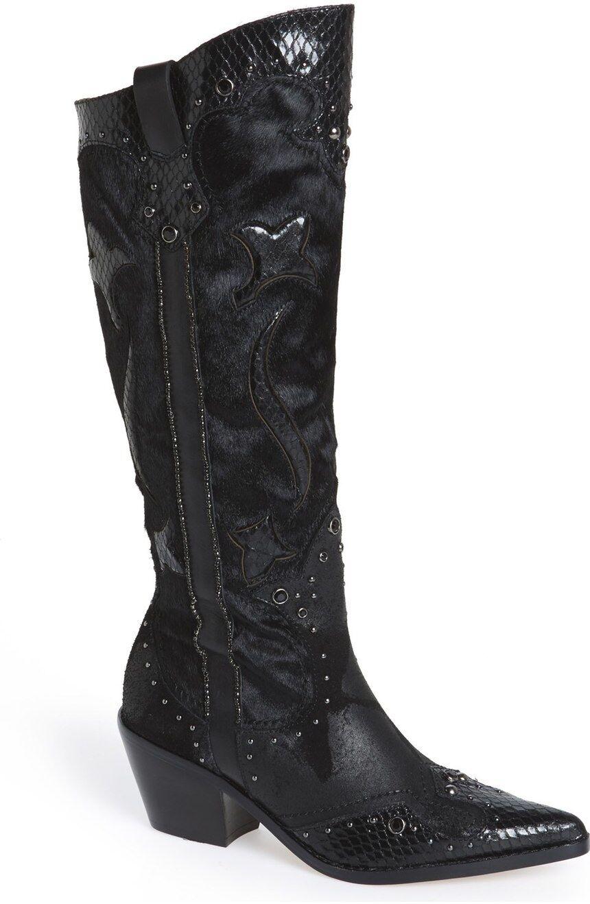 Miglior prezzo Donald Donald Donald J Pliner 'South' Genuine Calf Hair Tall avvio nero Watersnake Leather 7.5  esclusivo