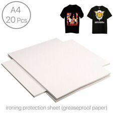 20pcs Heat Transfer Paper T Shirt Inkjet Iron On Sheet Light Fabric Craft Diy Us