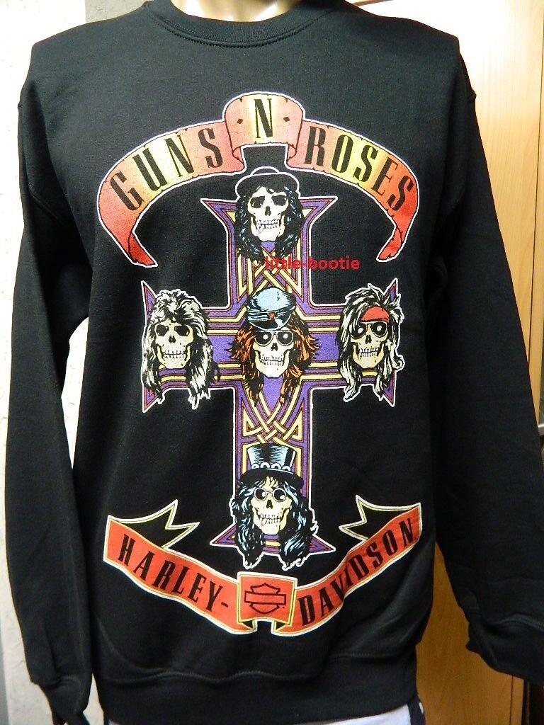 Harley-Davidson Sweatshirt GUNS N' ROSES Pullover Herren schwarz XXL - 2 XL