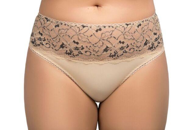 wholesale dealer discount up to 60% new photos Ladies Size 22-24 DESIGNER Bikini Knickers Panties Luxury Briefs Natural