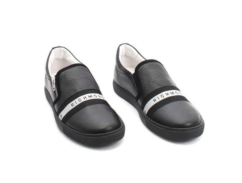 6f055022c145 ... John Richmond 5214 Black   White Leather Loafers Sneakers Shoes Shoes  Shoes 41   US 8 ...