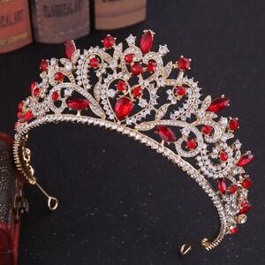 Vogue Wedding Bridal crystal Silver Queen Crown Tiara Headbands Hair Accessories