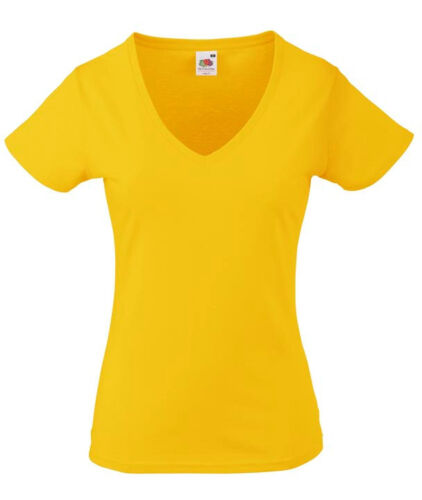 Fruit of the Loom Damen T-Shirt VALUEWEIGHT V-NECK T LADY-FIT Kurzarm Neu F271